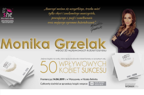 Monika Grzelak wśród 50 kobiet sukcesu